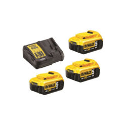 DeWalt - 3 batterier pluss lader